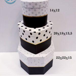 Κουτί 3ων τεμαχίων μαύρο λευκό