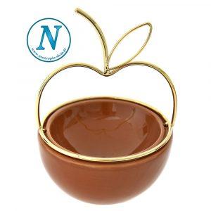 κεραμικό μπωλ μήλο ανοιχτό